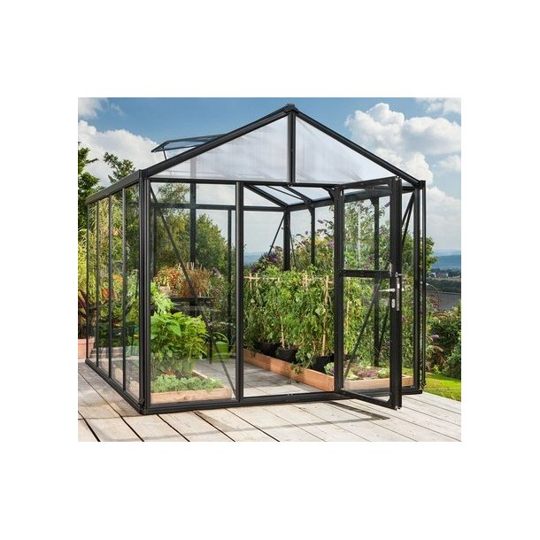 Zeus 2 15700 sort drivhus m hærdet glas