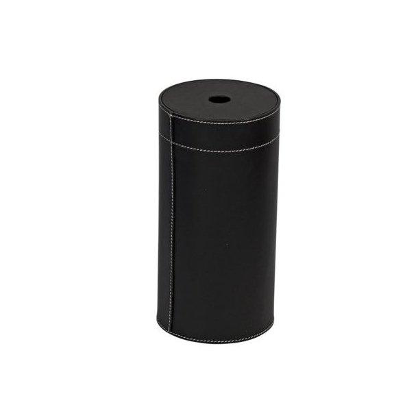 Cylinder til optændere - læder Passer bl.a. til rør med optændere Mål ca. H:29cm Ø14
