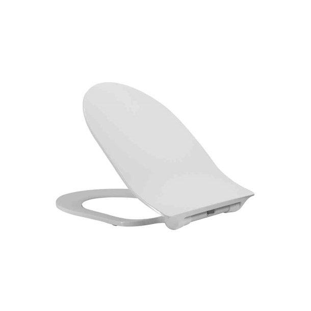 NAUTIC D-Shape slim toiletsæde softclose, hvid