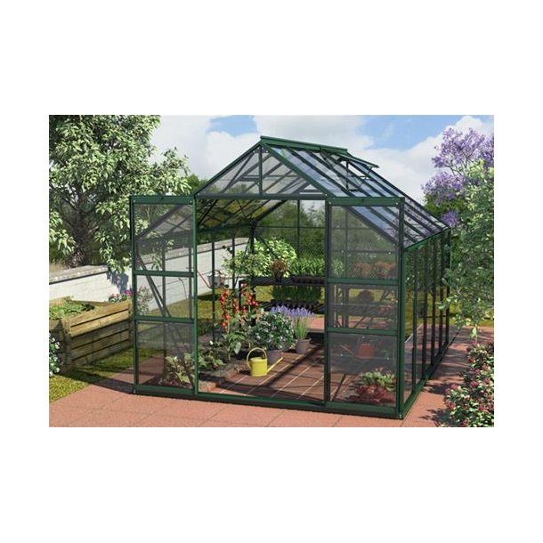 Mars 11500 grøn Drivhuse med glas