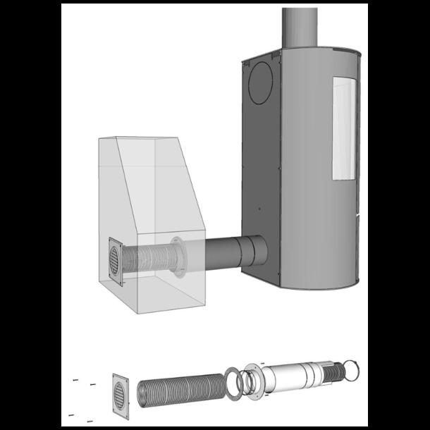 Aduro friskluftskit, Ø80 mm