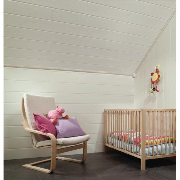 Huntonit Panelboard Hvid symfoni væg/loft 11x180x2400mm 1,73 m2/pk