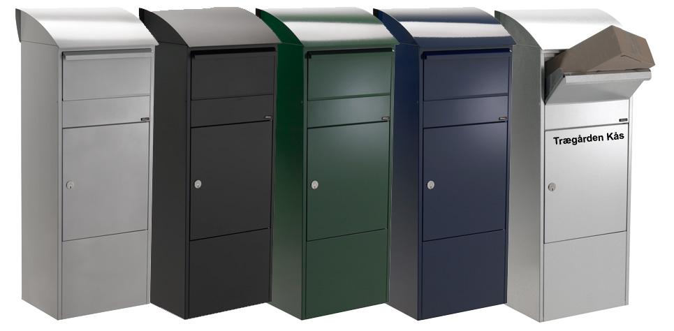 Ubrugte Allux 820 postkasse pakkebrevkasse med Ruko Lås og 5 farver YF-08